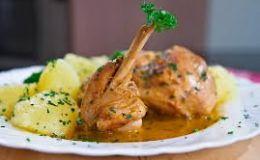 Блюдо на 14 февраля: Кролик в винно-медовом соусе