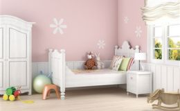 Дизайн детской комнаты: трафаретная роспись
