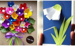 Детские поделки на 8 марта из бумаги: 8 потрясающих идей
