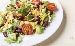 Постный салат с авокадо. Рецепт