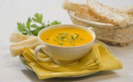 Гороховый суп-пюре с перепелиными яйцами для детей