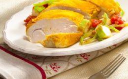 Запеченная куриная грудка с овощами. Рецепт