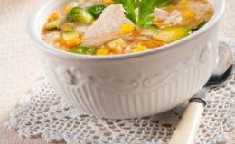 Суп с перловой крупой и брюссельской капустой