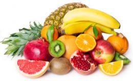 Витаминные фрукты: апельсины, бананы, киви