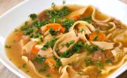 Суп с домашней лапшой. Рецепт