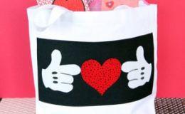 Мастер-класс: делаем сумочку Микки для валентинок