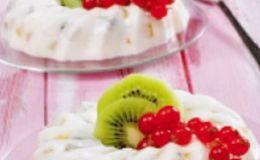 Йогуртовый десерт с киви для детей. Рецепт