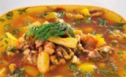 Суп с морепродуктами. Рецепт