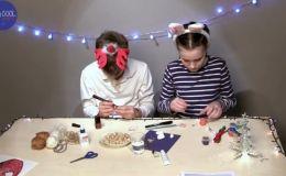 Классные поделки для школы: кулоны и брелоки из арахиса (Видео)