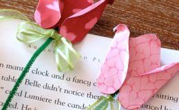 Поделка к 8 марта: закладка-роза