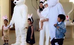 Ким Кардашьян показала мужа в образе кролика