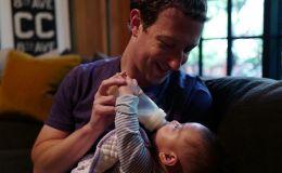 Марк Цукеберг показал, как кормит дочку. Фото