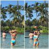 Бритни Спирс похвастала плоским животом и показала детей на Гавайях