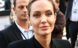 Анджелина Джоли купила огромного медведя у 8-летних близнецов