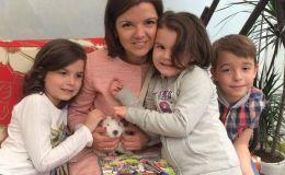 Маричка Падалко показала детей и мужа в вышиванках