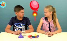 Удивительный эксперимент: воздушный шарик и огонь. Видео Cool School