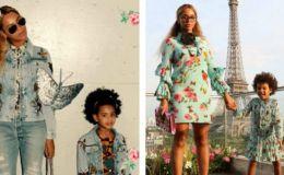 Звездный стиль детей: 6 стильных одинаковых нарядов Бейонсе и ее дочки