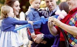 Кейт Миддлтон и принц Уильям с детьми на приеме в Канаде. Фото