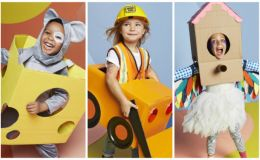 Хэллоуин 2017. 5 детских костюмов из пустых коробок, сделанных своими руками
