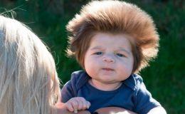 Двухмесячный малыш с необычной прической стал звездой сети