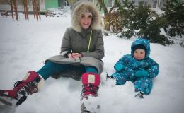 Звезды на снегу: как украинские селебрити встретили первый снег
