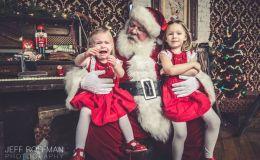 Американский фотограф показал, как дети реагируют на Санта Клауса