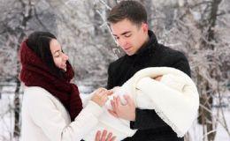 Первая прогулка с новорожденным зимой: основные правила