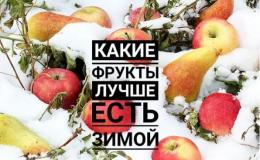 Зимние фрукты: в чем еще есть витамины