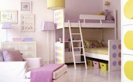 Детская комната для двух девочек: 10 идей красивого интерьера
