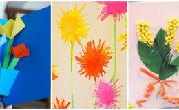 Открытки к 8 марта своими руками: 7 простых идей для детей
