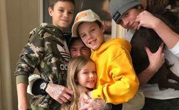 Семейная идиллия: Дэвид и Виктория Бекхэм отправились с детьми на горнолыжный курорт