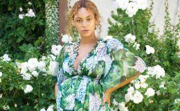 Беременная Бейонсе снялась в новой красивой фотосессии: девочки в зеленом