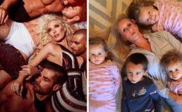 Гламурные будни: мать четырех детей пародирует селфи звезд