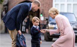 4-летний принц Джордж отправился в школу. Видео