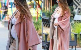 Третья беременность: Джессика Альба показала огромный беременный живот в стильном наряде