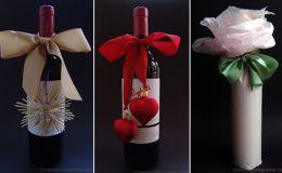 Как красиво упаковать бутылку в подарок: 12 идей к Новому году