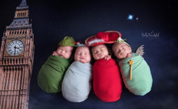Потрясающая фотосессия новорожденных в стиле диснеевской сказки «Питер Пэн»
