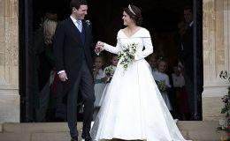 Свадьба принцессы Евгении: принцесса Шарлотта и принц Джорж в свите невесты