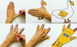 Учимся рисовать животных при помощи ладоней: 14 забавных образов
