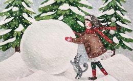 Вірші та загадки про зиму українською мовою