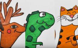 Шедевры с помощью пяти пальцев! Рисуем животный: 20 классных идей