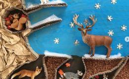 Как зимуют животные: делаем сенсорную коробку. Мастер-класс