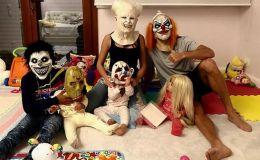 Страшно весело: как нарядились к Хэллоину звездные родители