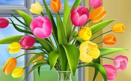 Листівки і привітання з 8 березня