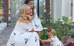 Девочки в белом: Лилия Ребрик показала дочек и family look