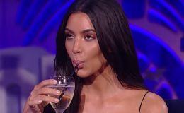 Ким Кардашьян отказалась от алкоголя после того, как разболтала о рождении сына