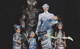 Очень смешно: Ким Кардашьян одела всю семью в костюмы жуков