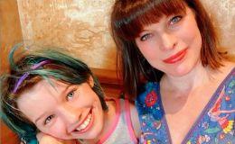 Милла Йовович трогательно поздравила дочку с днем рождения