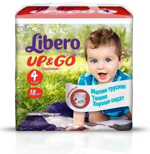 Libero Up&Go Size4 18pcs Samurai RU