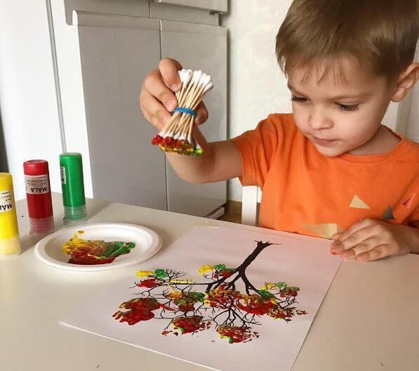 нетрадиционные техники рисования для детей - описание